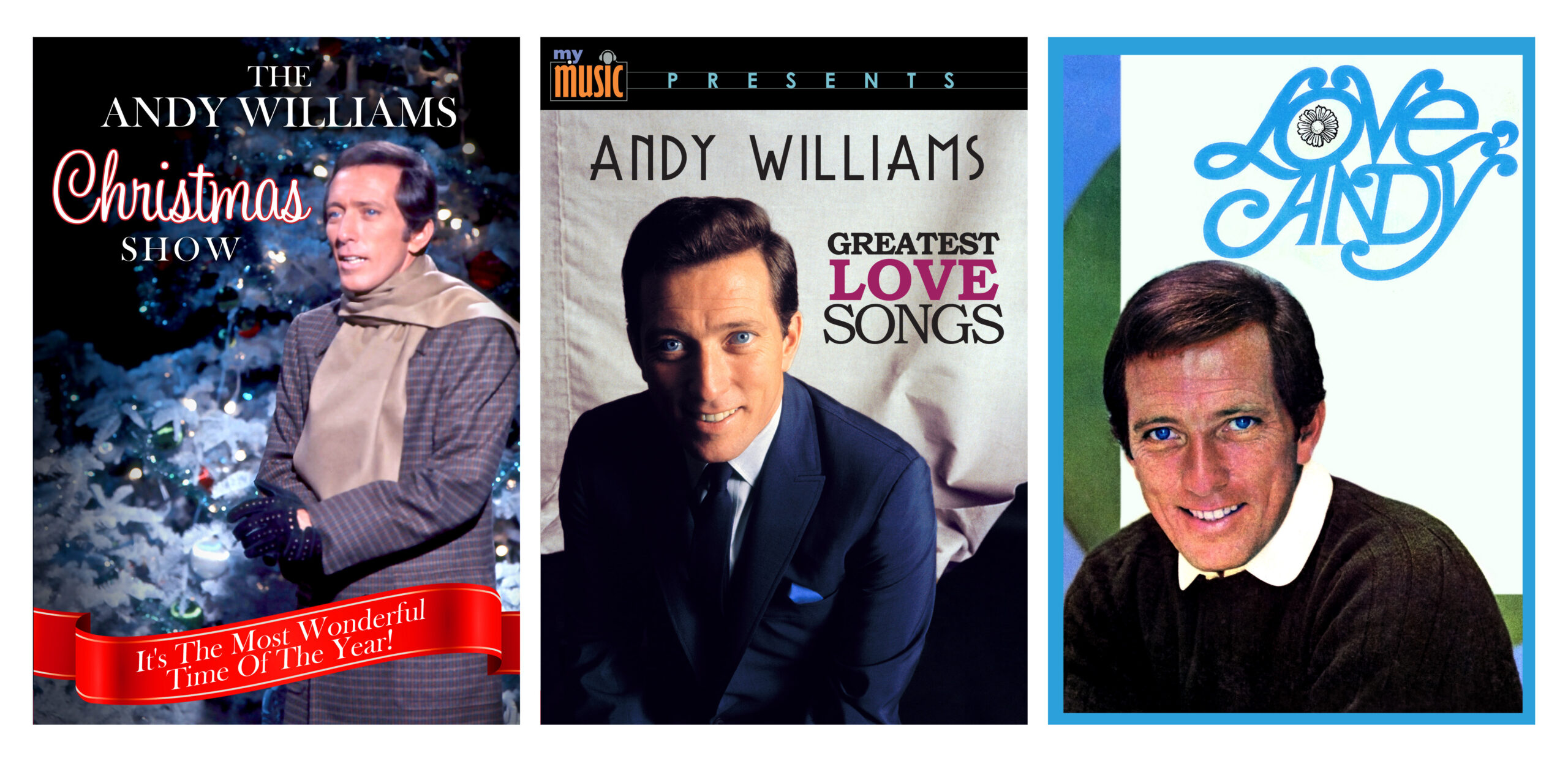 3 DVD Set: Andy Williams: Greatest Love Songs, Love Andy, and Christmas Show