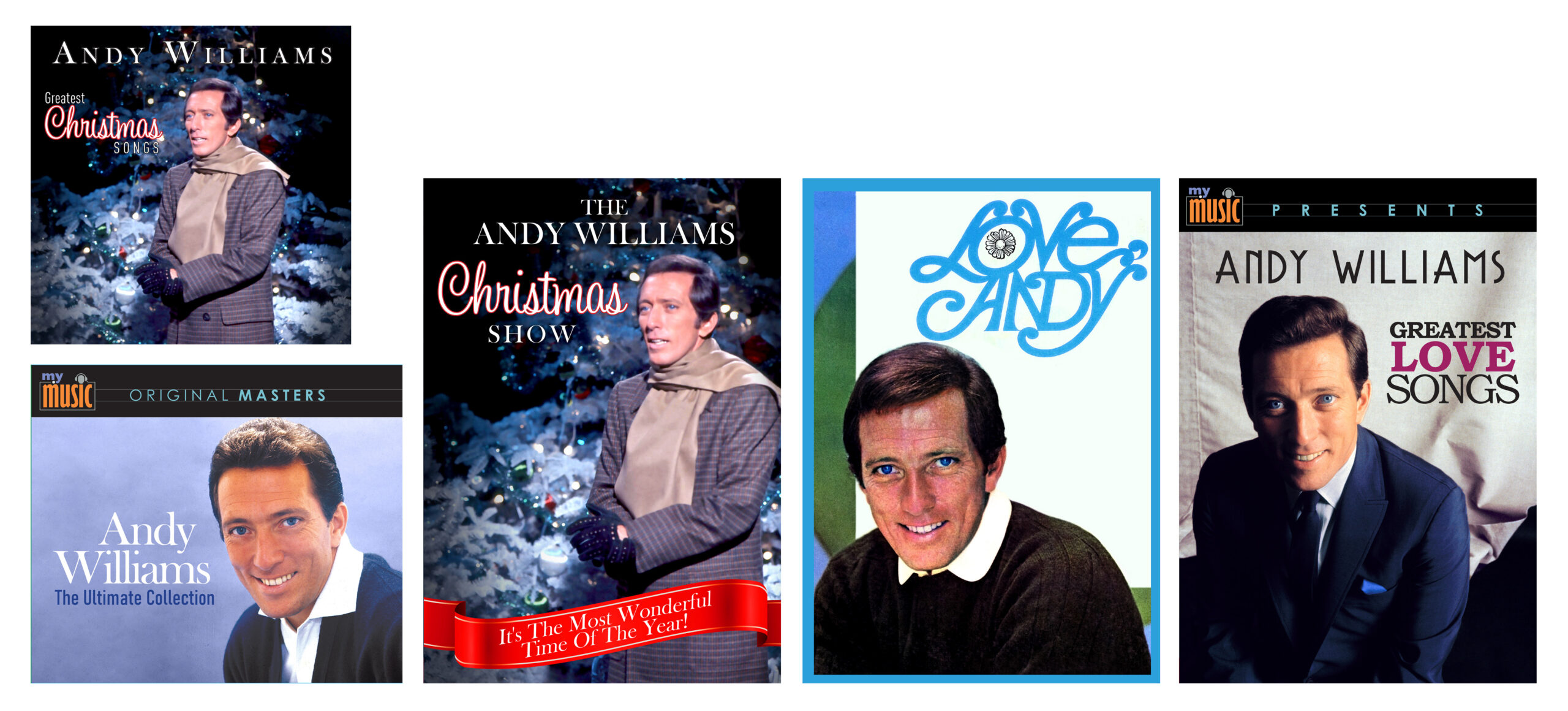 Andy Williams Combo:  5 CD set and 3 DVD Set