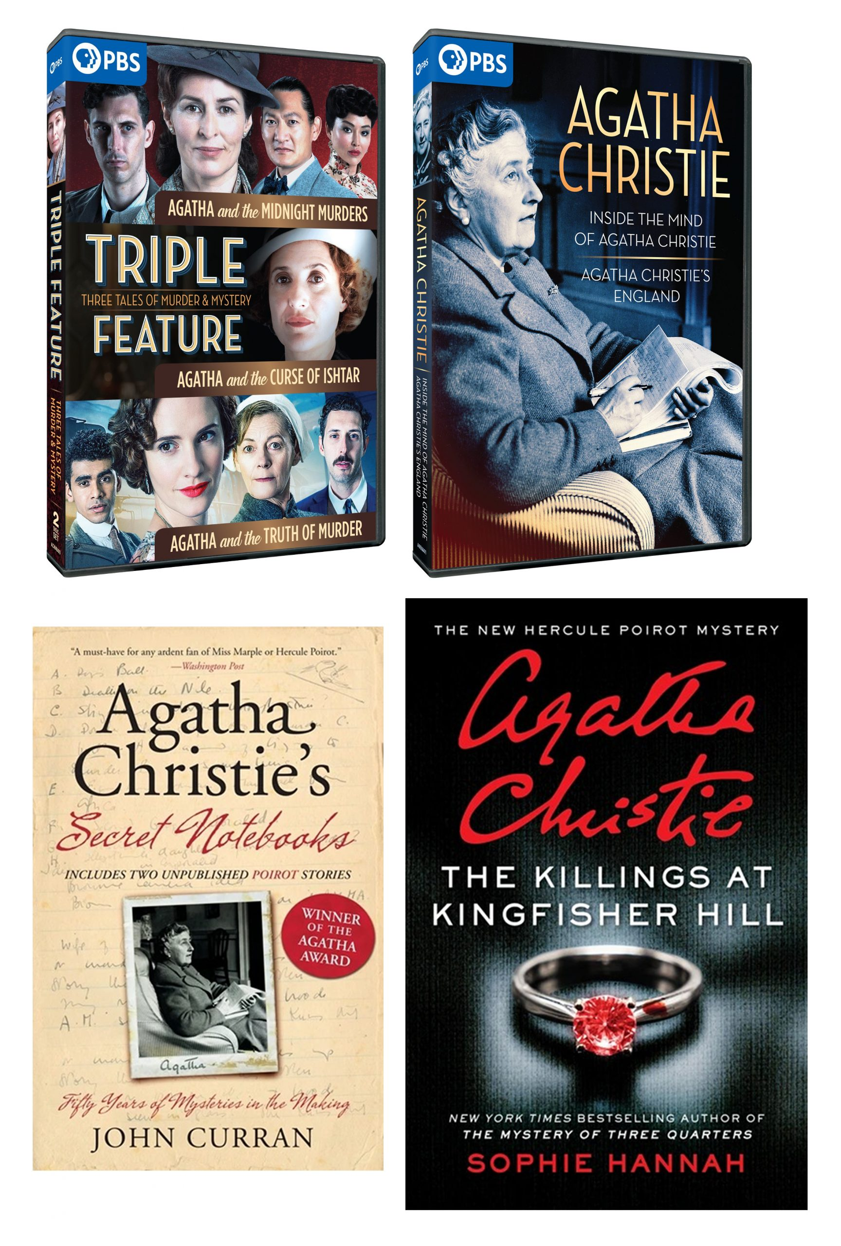 Agatha Christie/Curse Of Ishtar Combo: 3 DVDS + 2 Paperback Books
